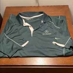 Nike golf shirt with Mercedes logo